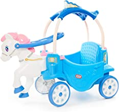 Little Tikes Princess Horse & Carriage - Frosty Blue Ride-On (Renewed)