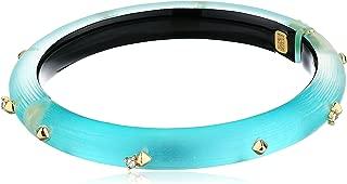 Alexis Bittar Golden Studded Hinge Bracelet, One Size