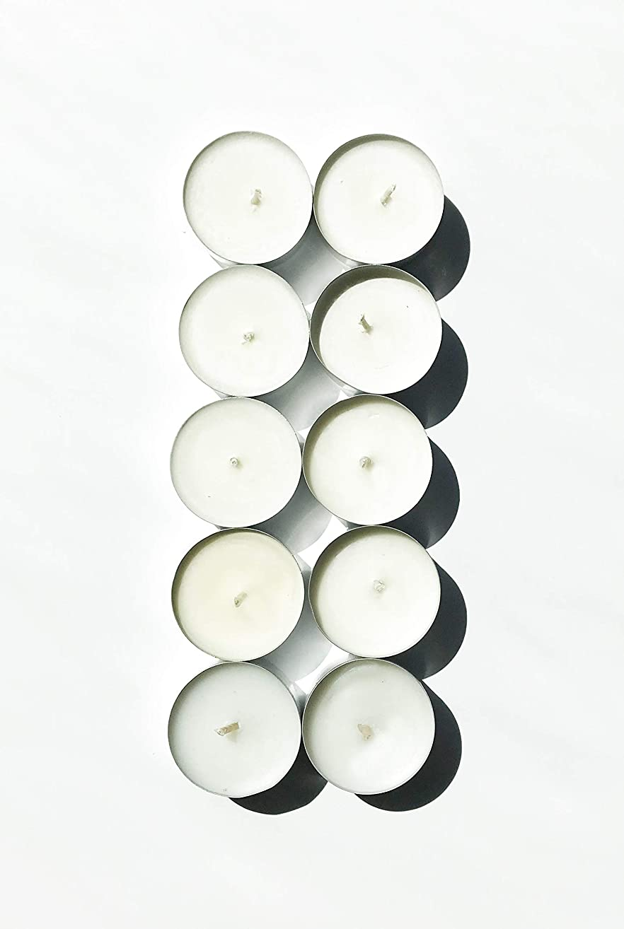 Sandalwood & Vanilla Soy Tea Light Candle Pack | Highly Scented & Long Lasting | Handmade in the USA | Clean and Slow Burning | 10 pack