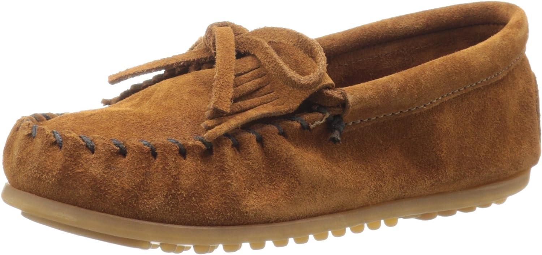 Minnetonka  Kilty Suede Moc shoes Girls  brown brown (Brown) Size  13 (32 EU)