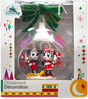 Disney's Mickey and Minnie Mouse Holiday Glass Drop Sketchbook Ornament -- 2018 Edition