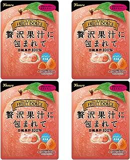 Fruit Dolce Gumi White Peach 2.0oz 4pcs Japanese Gummy Candy Kanro Ninjapo