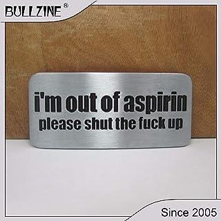 Cushy Il Bullzine I & # 39; m de Cinta aspirina Hebilla con Revestimiento Negro