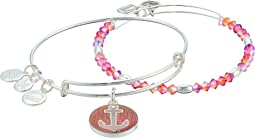 Art Infusion, Anchor Set of 2 Bracelet