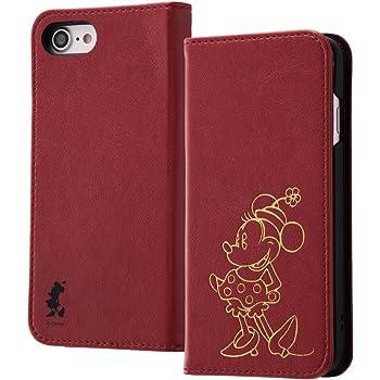 レイ・アウト iPhone8 / iPhone7 ケース 手帳型 ディズニーキャラクター ホットスタンプ ワンポイント ミニーマウス RT-DP14I/MN