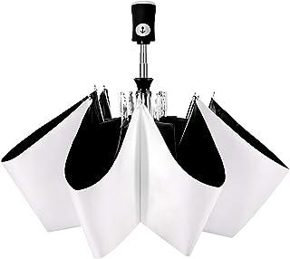 Cuby 折りたたみ傘 ワンタッチ自動開閉 軽量 レディース (白い色の傘)