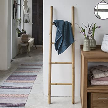 Tikamoon 2137 Escalera Puerta Toalla de baño bambú Beige 40 x 4 x 150 cm: Amazon.es: Hogar