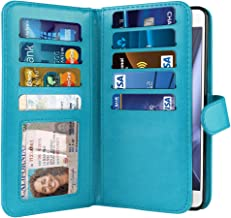 NEXTKIN Droid XT1635 Case, Leather Dual Wallet Folio TPU Cover, 2 Large Pockets Double flap Privacy, Multi Card Slots Snap Button Strap For Motorola Moto Z Play 2016 Droid XT1635 - New Teal