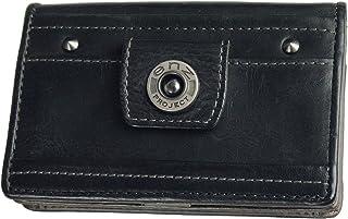 N's Project エンズプロジェクト 名刺入れ メンズ 牛革 スナップボタン カードケース リバースシリーズ ブラック 【N36454】