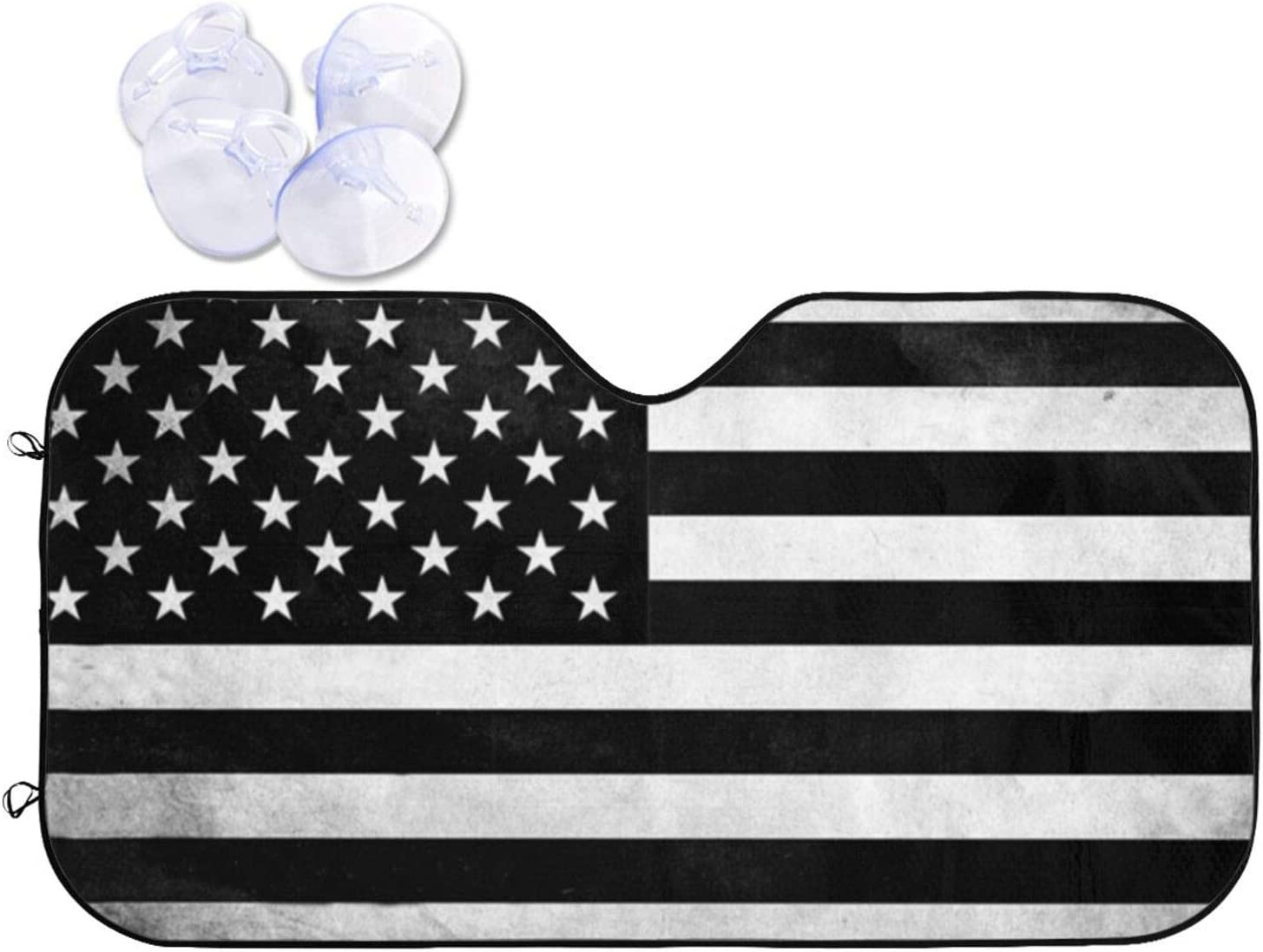 Black Recommendation White American Flag Windshield Sun Auto Car Fron Shade for Popular brand in the world