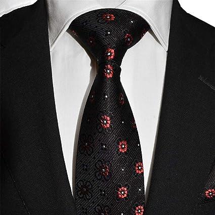 DXIUMZHP Corbatas Corbata Bordada Fiesta Corbata Seda Hombres ...