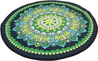 CLISPEED Tapete Redondo de Ãrea Franja Tapetes de Mandala Boho Macio Antiderrapante Piso Carpete Quarto Sala de Estar Tape...