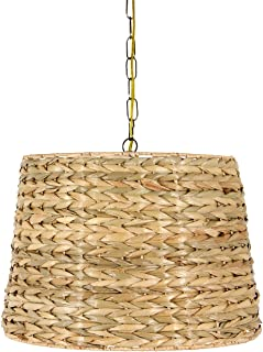 Upgradelights All Natural Woven Seagrass 19 Inch Drum Portable Swag Lampshade