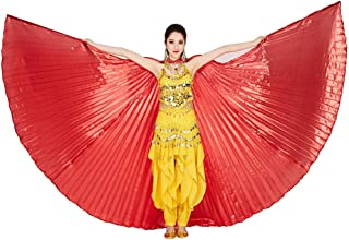 MUNAFIE Belly Dance Isis Wings with Sticks for Adult Belly Dance Costume Angel Wings for Halloween Carnival Performance