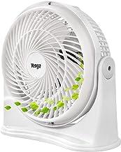Venga! VG VT 3003 Bureau-ventilator met 3 bladen en 3 snelheden, 20 cm, 30 W - Wit