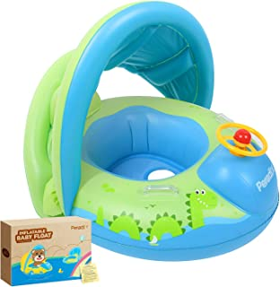 Peradix Baby Water Pool Float with Canopy Sunshade Roof for Infants Inflatable Swimming..