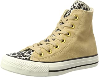 Converse Unisex Adults' CTAS Light Fawn/Black Hi-Top Trainers, Multicolour (Light Fawn/Black/Egret 249), 8 UK