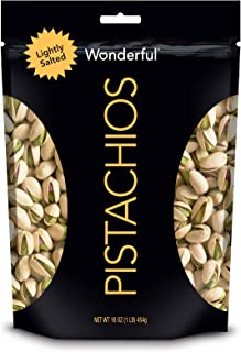 Wonderful Pistachios, Roasted & Lightly Salted, 16 Oz Resealable Bag