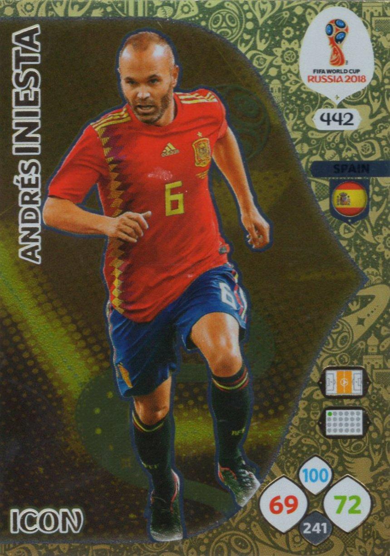 Adrenalyn XL FIFA World Cup 2018 Rusia – Tarjeta de comercio de icono Andrés Iniesta – España # 442: Amazon.es: Deportes y aire libre