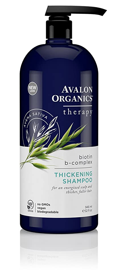 巨人ホールドおじいちゃん海外直送品Avalon Organics Biotin-B Complex Shampoo, 32 OZ