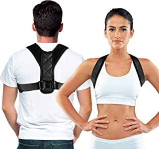 Posture Corrector for Men and Women, bodywellness Posture Corrector Adjustable and Comfortable Clavicle Brace elieves Upper Back&Shoulders Pain Correcting Hunchback Posture(Universal)