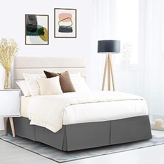 Nestl Bedding Bed Skirt - Soft Double Brushed Premium Microfiber Dust Ruffle - Luxury Pleated Dust Ruffle, Hotel Quality S...