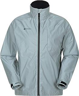 Mountain Warehouse Chaqueta Impermeable Ciclismo Adrenaline Hombre- Abrigo Lluvia Transpirable Unisex - para Running y Cam...