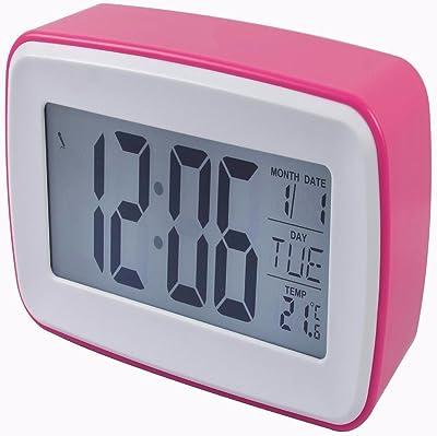 HAN-NMC Reloj alarma de despertador electrónico, Rosa
