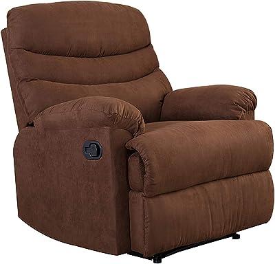 """Kingway SF-1701 Recliner Sofa Chair, 35"""" L x 40"""" D x 40"""" H, Brown"""