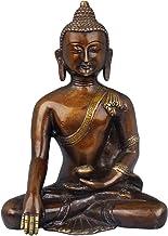 Tibetan Buddhist Bhumisparsha Buddha - Brass Statue