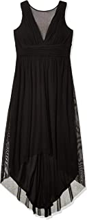 Marina Women's Hi Low Mesh Dress