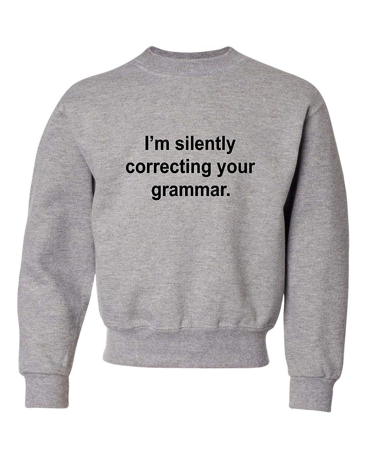 Go All Out Youth I'm Silently Correcting Your Grammar English Major Crewneck Sweatshirt