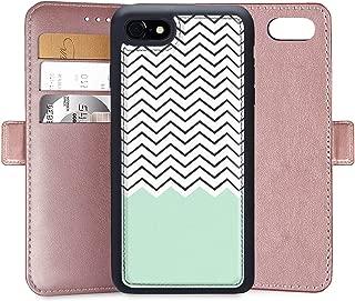 Wallet Case for iPhone 7 Plus iPhone 8 Plus, Wave Chevron Custom PU Leather Wallet Case for iPhone 7 Plus 8 Plus,6S Plus 6 Plus Magnetic Closure Credit Card Slot Cash Protective Case