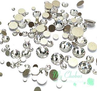 Crystal-Wholesale Swarovski Clear CRYSTAL (001) 2058/2088 Crystal Fatbacks Rhinestones Nail Art Mixed With Sizes Ss5, Ss7, Ss9, Ss12, Ss16, Ss20, Ss30, 144 Piece