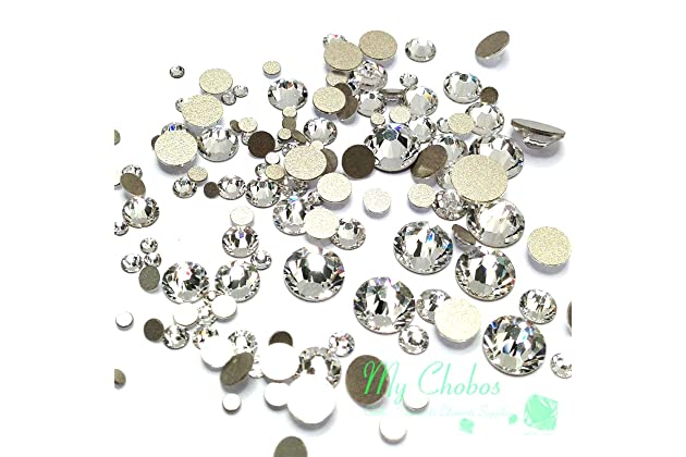 fd0e653ce00b Crystal-Wholesale Swarovski Clear CRYSTAL (001) 2058 2088 Crystal Fatbacks  Rhinestones Nail Art Mixed With Sizes Ss5