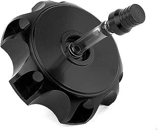 Eriding Bike Gas Tank Cap Fuel Aluminum Alloy Hexagonal with Breather Valve For 50cc 70cc 90cc 110cc(Black)