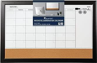 Quartet Combination Magnetic Whiteboard Calendar & Corkboard, 23