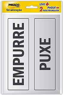 Placa p/sinaliz. 6, 5x20 empurre/puxe 891724 Pimaco, BIC, 891724, Multicor