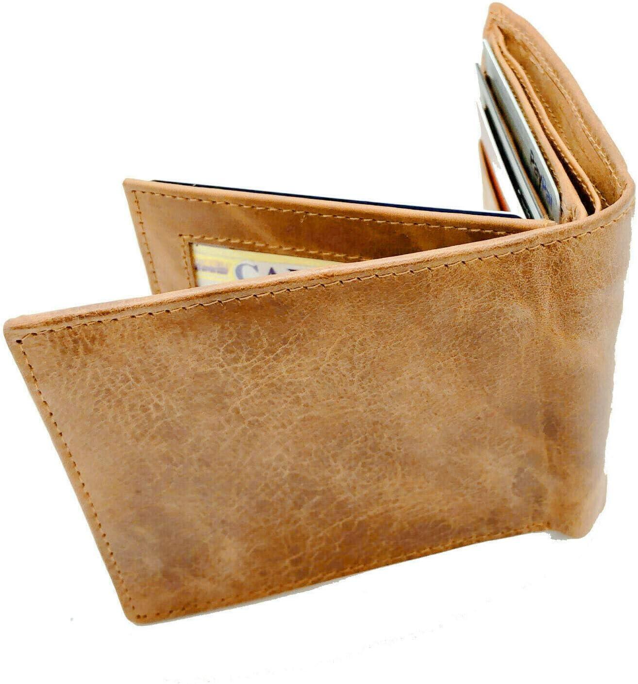 Cowhide Leather Men's Bifold Premium Wallet Brown Handcrafted
