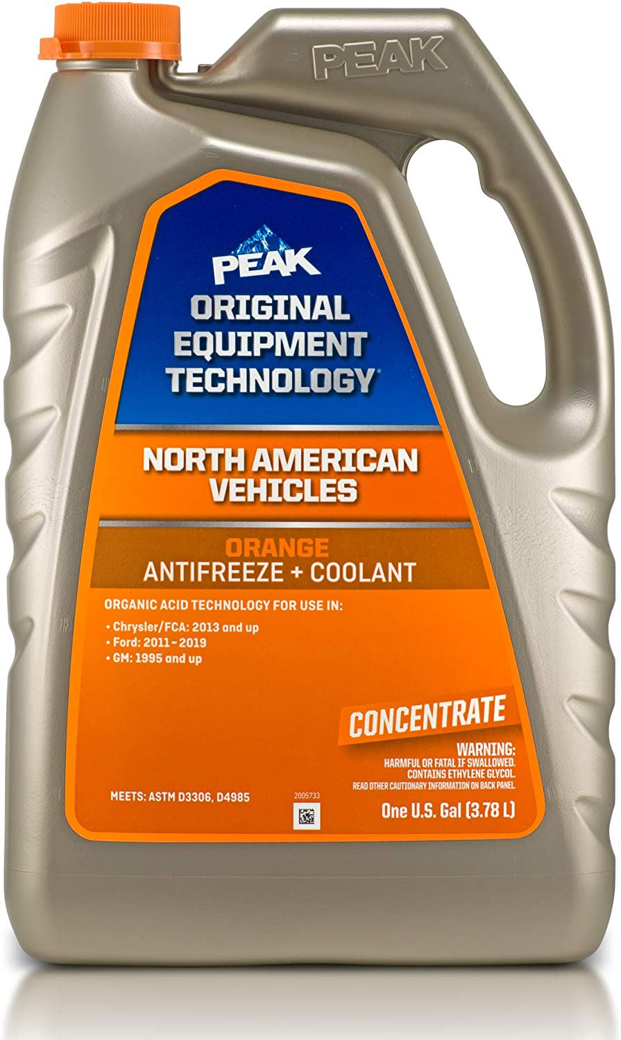 PEAK OET Extended Life Orange OFFicial store Antifreeze Concentrate unisex Coolant for