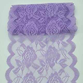 10Yards Lace Fabric 14CM/5.5 inches Wide Trim Lace Ribbon (Purple)