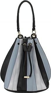 B BRENTANO Vegan Fashion Medium Accordion Drawstring Top Handle Shoulder Bag