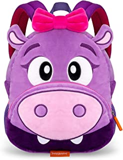 Jungle Academy Toddler Plush Backpack, Jackie the Hippo