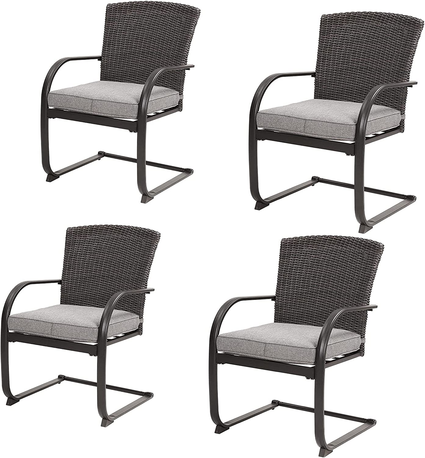 Grand 55% OFF Patio 4 Pieces Our shop OFFers the best service Outdoor Dining with Set Motion C-Spring Res