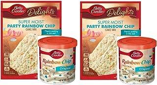 Betty Crocker Super Moist Party Rainbow Chip Cake Mix and Betty Crocker Rainbow Chip Frosting Bundle - 2 of Each - 4 Items.
