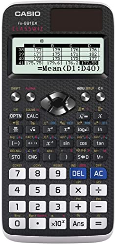 """Casio FX-991EX Engineering/Scientific Calculator, Black, 3"""" x 6.5"""" x 0.4"""""""