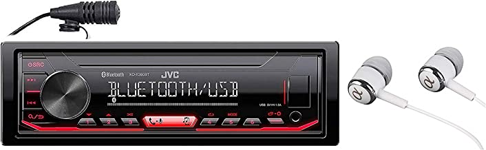 JVC KD-X260BT Built-in Bluetooth, AM/FM, USB, MP3, Pandora, Spotify, iHeartRadio Digital media receiver, Works with Apple and Android Phones, iPod/iPhone Music Playback / FREE ALPHASONIK EARBUDS