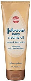 Johnson's Baby Creamy Oil, Cocoa and Shea Butter, 8 Ounce, 2 Pack