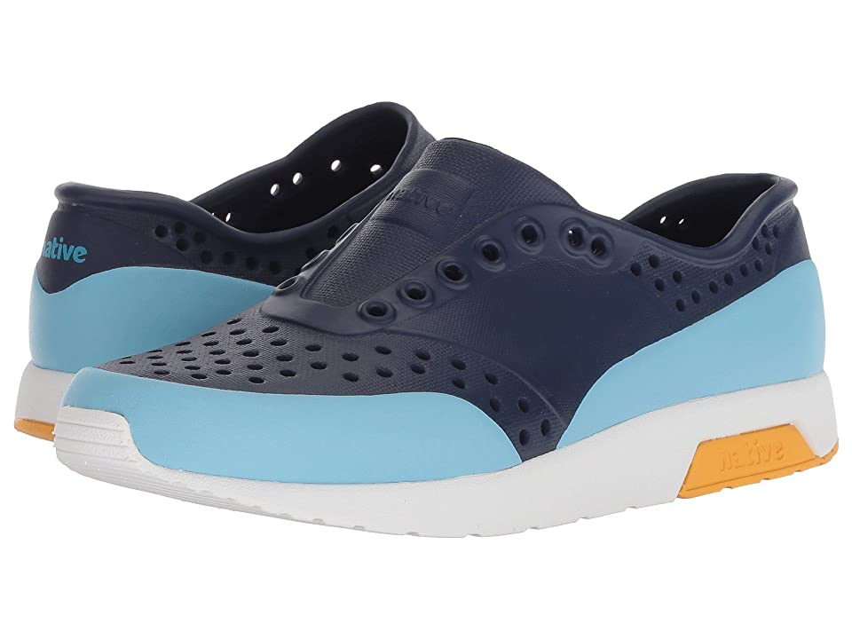Native Kids Shoes Lennox Block (Little Kid) (Regatta Blue/Shell White/Beanie Yellow/Sky Blue Block) Kids Shoes