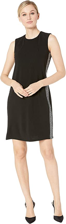 Embellished Side Stripe Sheath Dress